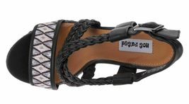 Not Rated Monaco Tribal Native American Print Braided Wedge Open Toed Sandal 8.5 image 6
