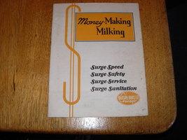Vintage 1944 Surge Brochure-Money-Making Milking  - $19.95