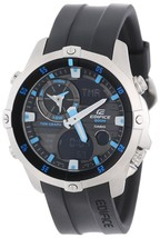 Casio Men's EMA100-1A Edifice Multi-Function Marine Line Analog Watch - £314.56 GBP