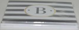 Rosanne Beck 211 1814 Folded Note Black White Striped Letter B Pkg 10 image 2
