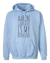Aaron Carpenter is my boyfriend Unisex hoodie Light Blue - $31.00+