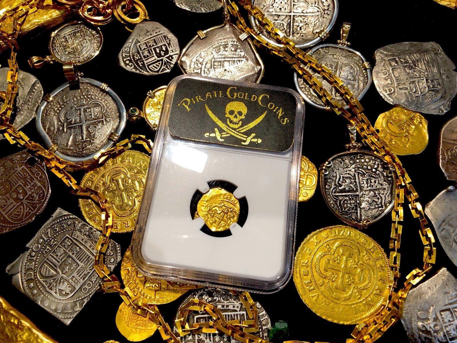 MEXICO 1712-15 FLEET SHIPWRECK 1 ESCUDO PIRATE GOLD COINS TREASURE COB LORAINNE