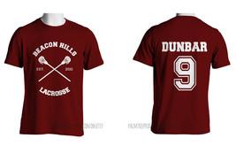 Dunbar 9 Liam Dunbar Cr Beacon Hills Lacrosse Teen Wolf Men Tee Maroon S To 3 Xl - $24.00