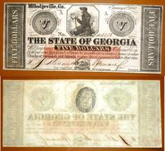 State of Georgia  $5 1862 , UNCIRCULATED - $127.71