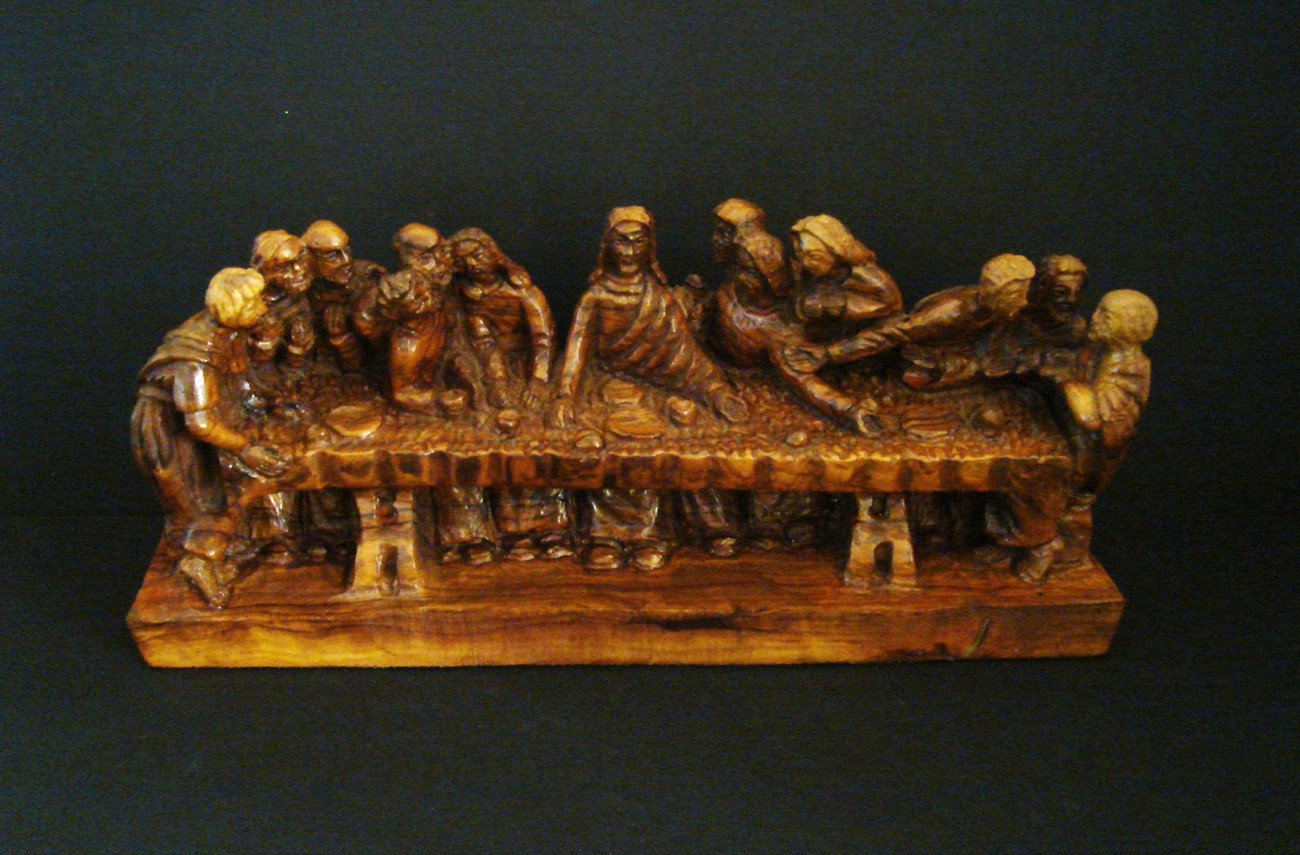 Olive wood from israel carving of the last supper