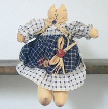 "Tabby Cat Handmade Muslin Country Girl Doll ""Jessica"" (BN-DOL101) - $12.00"