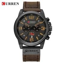 New 2018 Men Watch CURREN Top Brand Luxury Mens Quartz Wristwatches Male Leather - $39.87