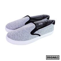 Grey Men's Canvas Shoes Slip On Casual Sneakers Kicks Originals Lowtop F... - $13.99