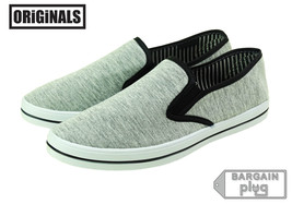 Slip Casual Footwear On Originals Canvas Mens Sneakers Lowtop Grey Shoes Kicks BwqTt1p