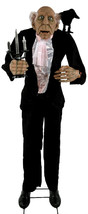 "68"" Life Size Talking Animated Creepy Butler Haunted Halloween Prop - €206,50 EUR"