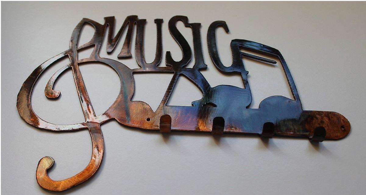 MUSIC W/ NOTES KEY RACK - COPPER/BRONZE - $21.95