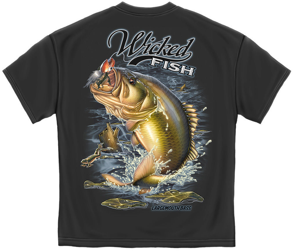 Made in usa largemouth bass fishing fish t and 49 for Bass fishing shirt