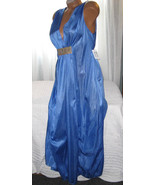 Long Nightgown Blue with Gold Accent 1X 3X Grec... - $25.00