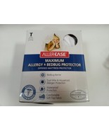 ALLER-EASE MAXIMUM ALLERGY & BED BUG PROTECTOR FOR TWIN BED WHITE ZIPPERED  - $23.36