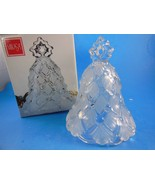 "Mikasa Crystal Winter Dreams Christmas Tree Bell 5.5"" Made in Germany BE... - $13.85"