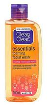 2 X 100 ML CLEAN & CLEAR Essentials Foaming Facial Cleanser Oil-Free Dai... - $18.02