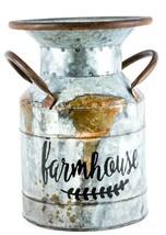Galvanized Vintage Look Farmhouse Tin Milk Pail Bucket Rustic Farmhouuse... - £12.13 GBP