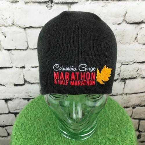 Columbia Gorge Marathon Mens Hat Gray Stretch Knit Beanie Warm Winter Skull Cap