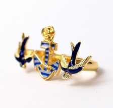 Swallow&Mooring Double Finger Ring - $4.99