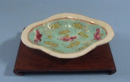 Antique Chinese Miniature Porcelain Plate 19 Century w Export Custom Sea... - $38.00