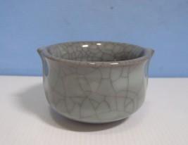 Vintage Jingdezhen porcelain bowl crackle glaze c.mid 1900s b7 u - $28.00
