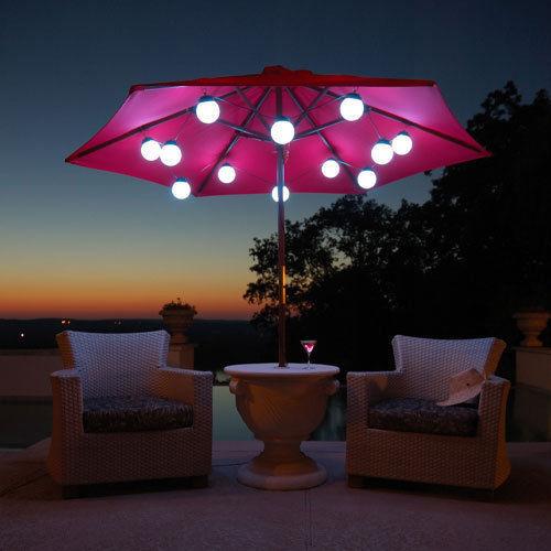 LED Globe Umbrella Lights (8 globe lights)