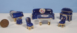 Japanese rarely seen dollhouse miniature 'Made in Japan' porcelain furni... - $29.99