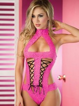 Sexy Lace Lingerie Dress Conjoined One Size Red Black Pink Tracksuit Sty... - $7.92