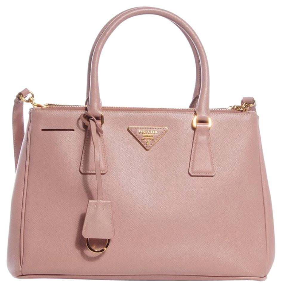 739cb9f2fd7b Authentic PRADA Classic Saffiano Cammeo Pink Leather Lux Small ote ...