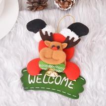 Santa Claus Snowman Door Plate Decor Christmas Tree Ornaments Hanging Pe... - €5,08 EUR