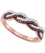 Ladies 10K Rose Gold .25CT Real Diamond Infinit... - $395.99