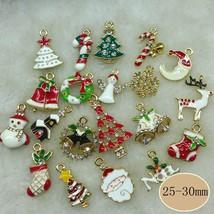 Metal alloy Mix Christmas Sets charm For Holiday christmas decoration su... - $14.99