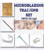 Permanent Makeup Microblading Eyebrow Tattoo kit training with 3D rug - $49.00