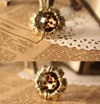 Vintage Gem Studded Flower Cocktail Ring - $4.99