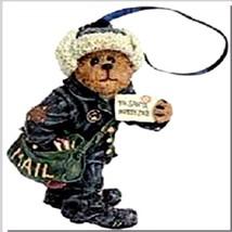 "Boyds Bearstone Ornament ""Cliff Letterman"" #25759-  NIB- Retired - $18.99"