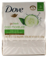 3 Dove Go Fresh Cool Moisture Beauty Bars With Cucumber And Green Tea Scent - $11.99