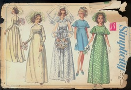 60s Size 12 Bust 34 Wedding Bridesmaid Dress Simplicity 8144 Pattern Bri... - $4.99