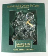 Waterford Marquis Crystal Elves Making Toys Santa Claus Coming Town Pape... - $33.81