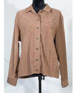 Drapers & Damons women's shirt button down long sleeve stretch brown M/M... - $14.84