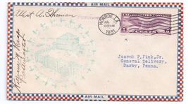 1931 FFC AM 33 Monroe LA Gas Field Signed Backstamp Roessler Cover PM Signatures - $9.95