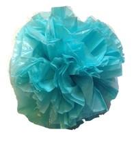 """25 Car Limo wedding Decoration Plastic Pom Poms Flower 4"""" - aqua - $4.94"""
