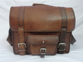 "18x14"" Real Leather Briefcase Laptop Macbook Attache Satchel Suitcase Ec... - $130.09"