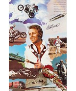Evel Knievel 24 x 37 Inch Reproduction Stunts And Photos Collage Poster  - $45.00