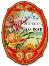 Savon Aux Fleurs Perfume Metal Sign - $24.95