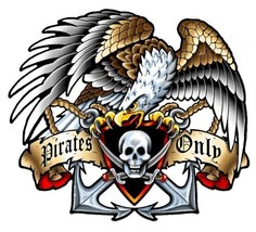 Pirates Only Plasma Cut Metal Sign - $30.00