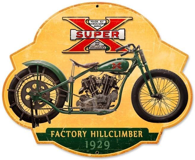 Super 1929 Factory Hillclimber Plasma Cut Metal Sign