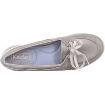 Keds Glimmer Lace Up Boat Shoes 553, Silver, 6.5 US / 37 EU image 2