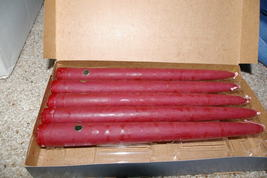 "Partylite 5 Mulberry Maroon Tapers 10"" Party Lite - $9.99"