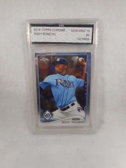 2014 Topps Chrome Enny Romero #3 Rookie Refractor GMA Graded Gem MT 10