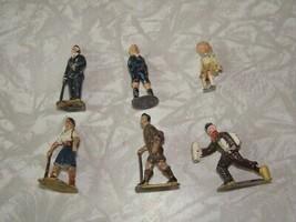 Vintage Toy Lead Figure Lot Newsboy Hikers People - $38.99